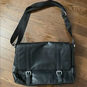 Danier leather messenger bag - brand new
